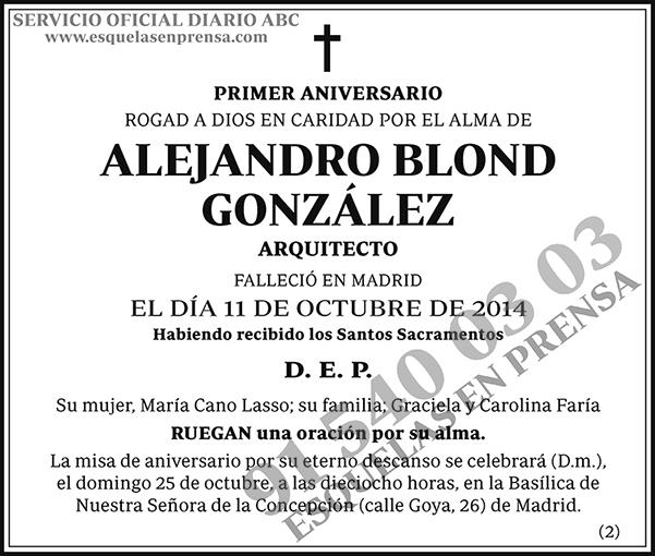 Alejandro Blond González